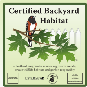 Certified Backyard Habitat